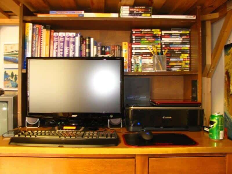 Before desk setup