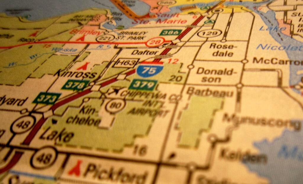Map (image courtesy of Flickr user katerha)
