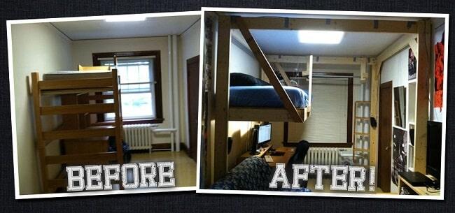 hanging loft bed plans