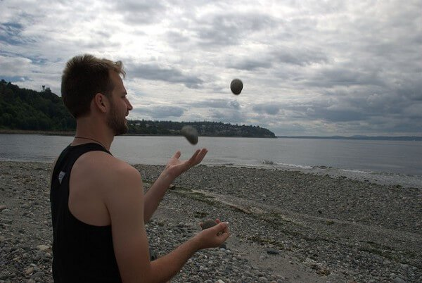 Juggling (image courtesy of Flickr user mnemophebe)
