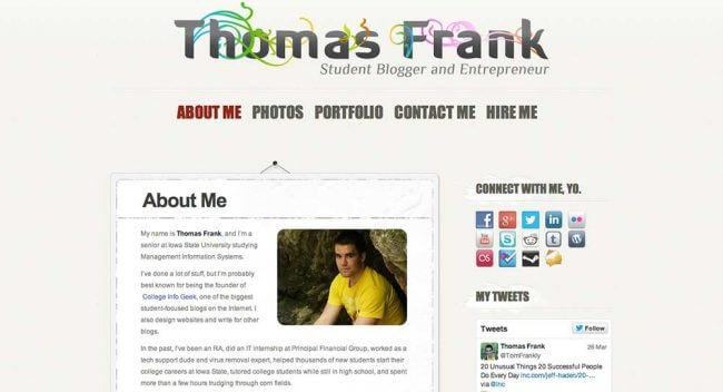Thomas Frank's student personal website