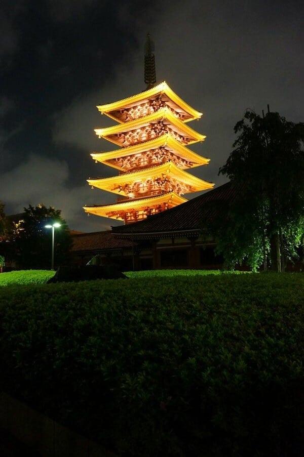 The temple in Asakusa.