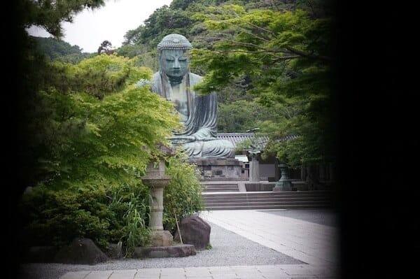 The giant Daibutsu in Kamakura