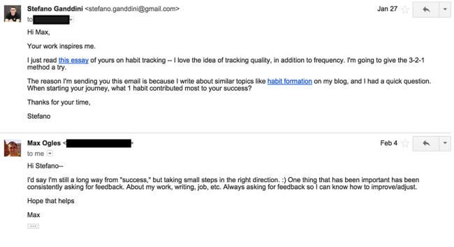 Max Ogles Email 1