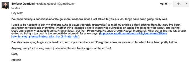 Max Ogles Email 2