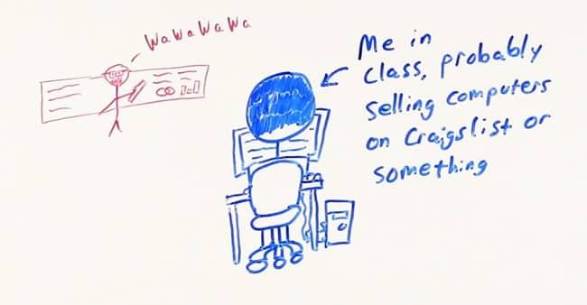 Me in class