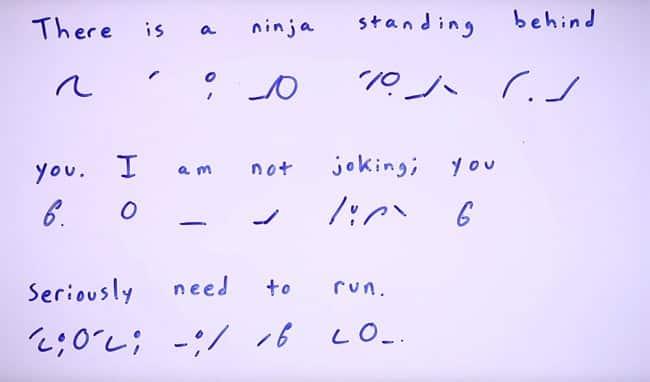 Gregg Shorthand Example