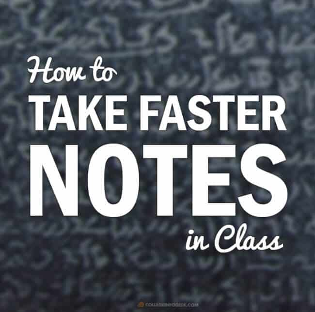 How to Take Faster Handwritten Notes Using Shorthand Techniques