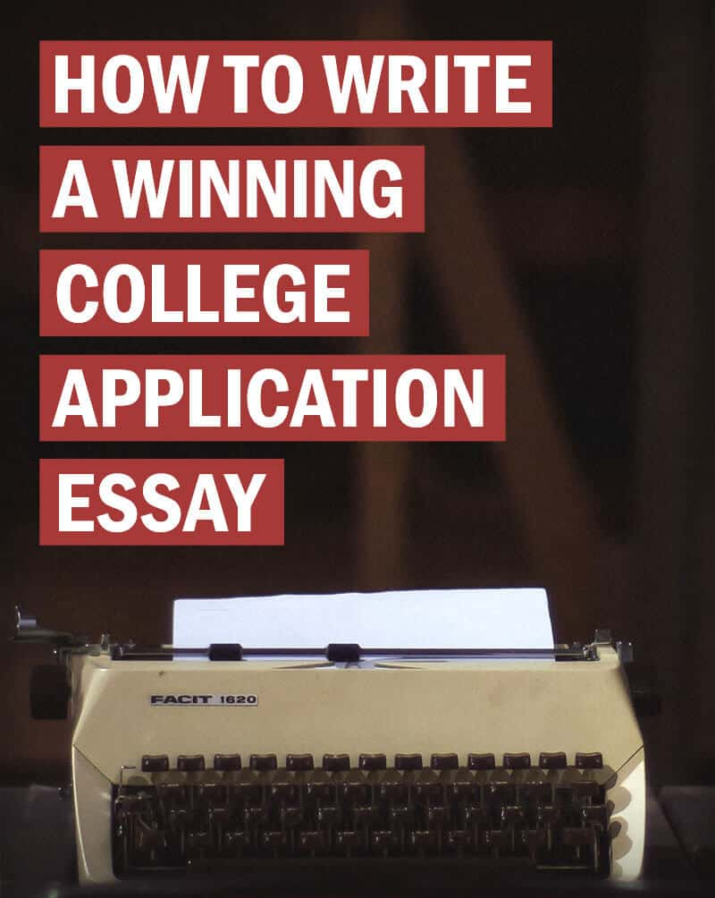 how to write application essay