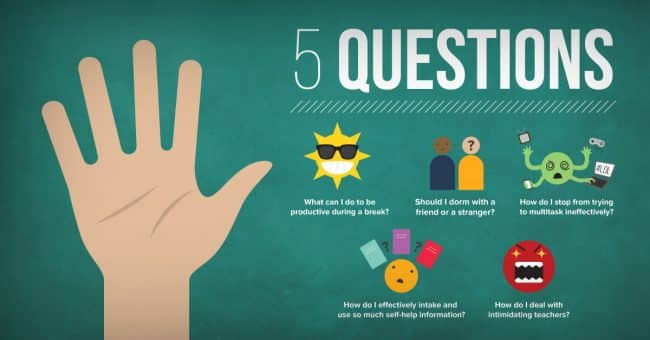 5 Questions: Productive Breaks, Avoiding Multitasking, & Intimidating Professors