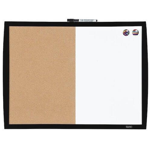 Combination Whiteboard/Corkboard