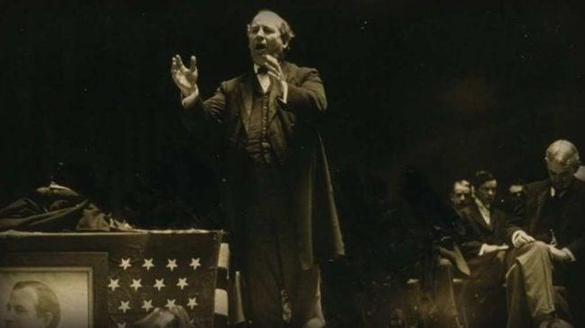William Jennings Bryan speaking