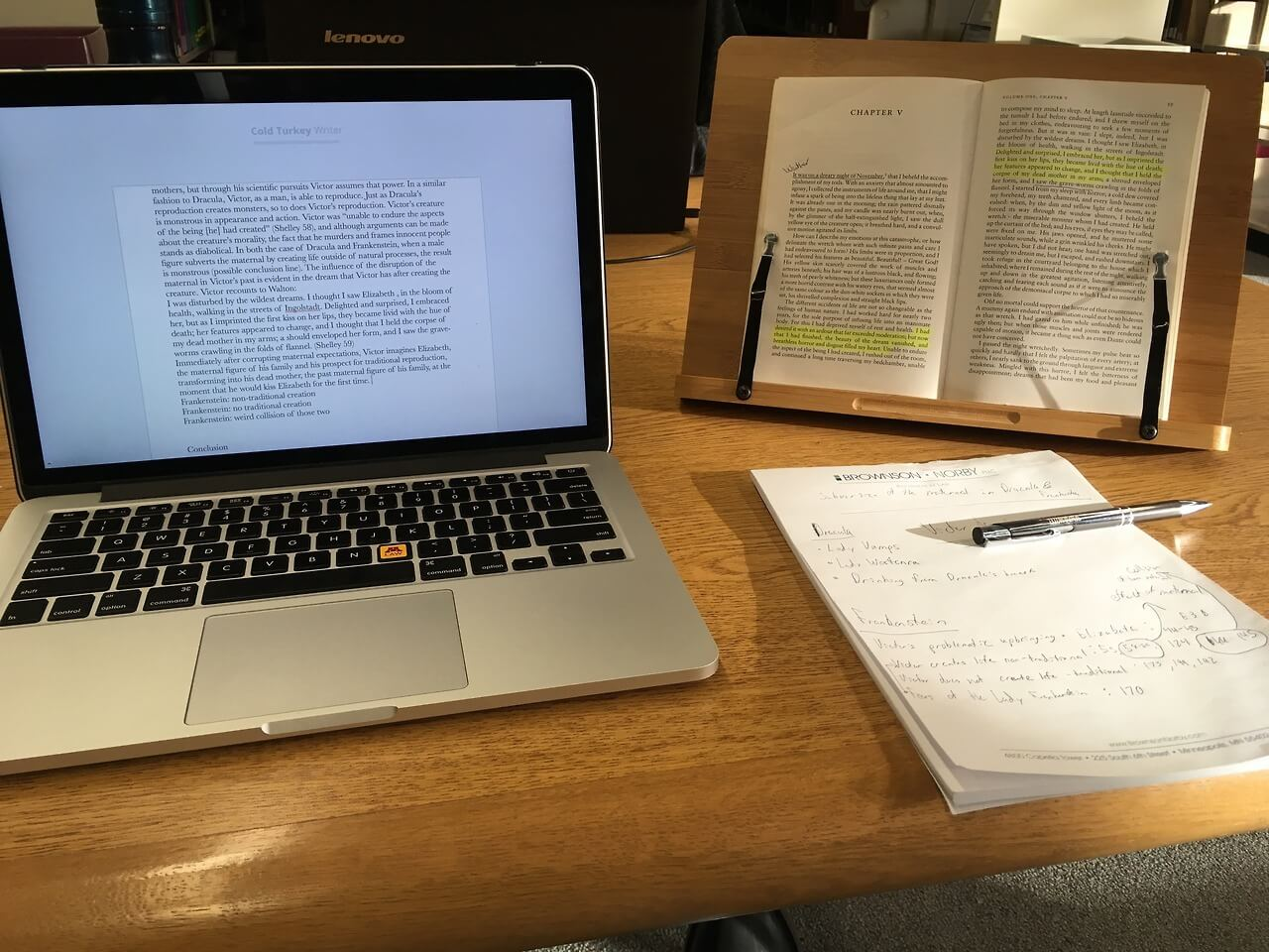 law library reading setup