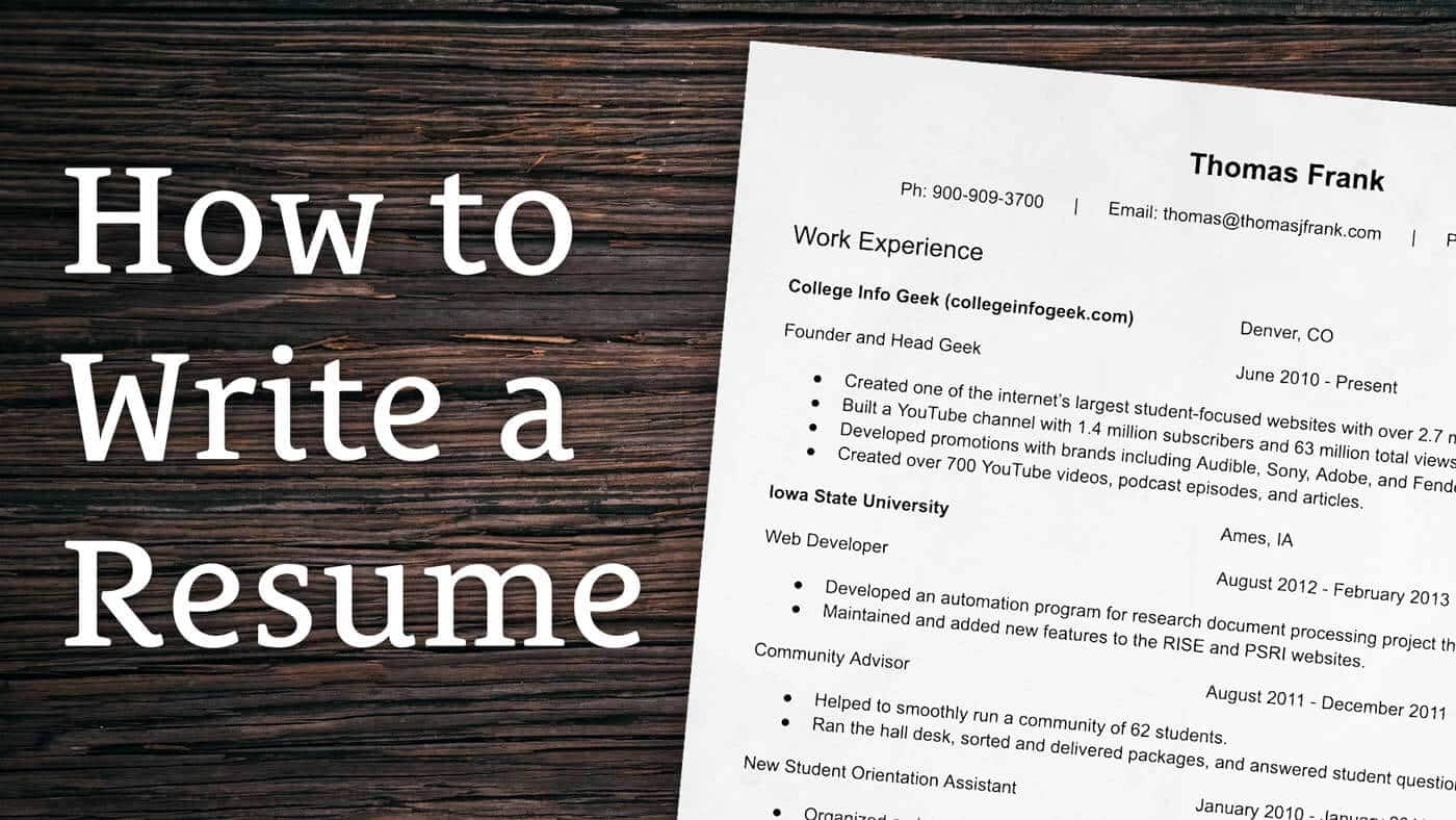 Applying For A Job This Is Exactly How To Write A Winning Resume