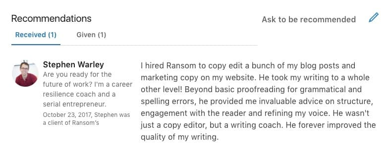 linkedin_recommendation_example