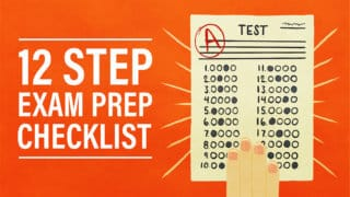 A 12-Step Exam Prep Checklist