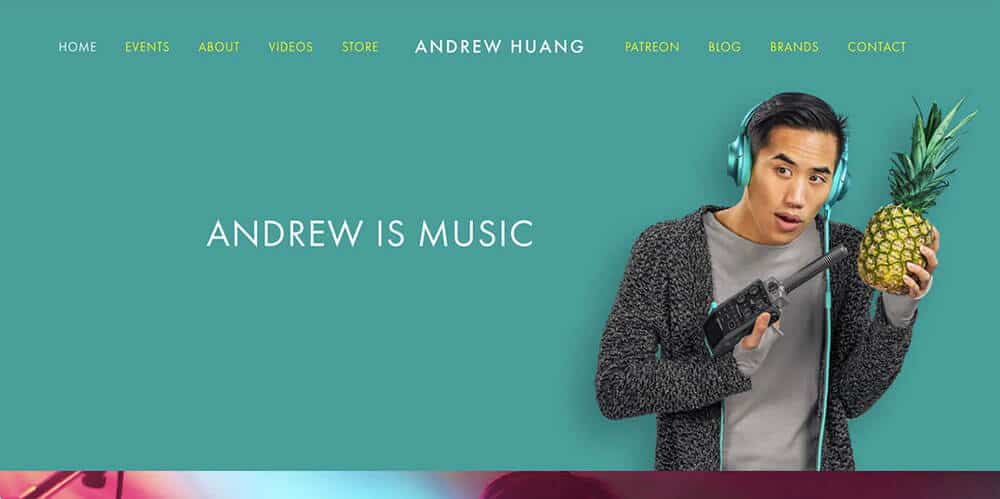 Andrew Huang's personal website