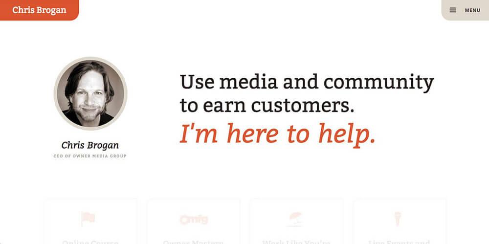 Chris Brogan's personal website