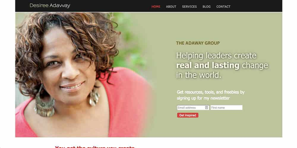 Desiree Adaway's personal website
