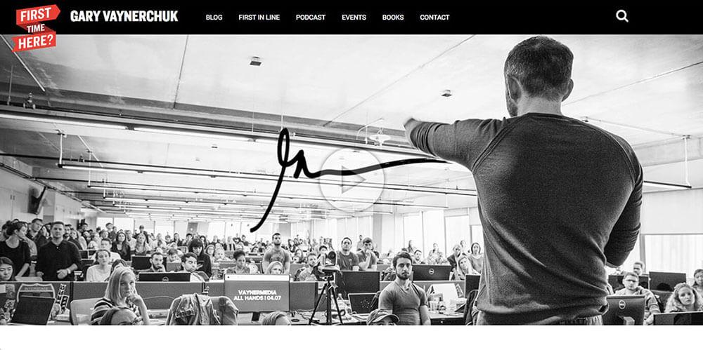 Gary Vaynerchuk's personal website