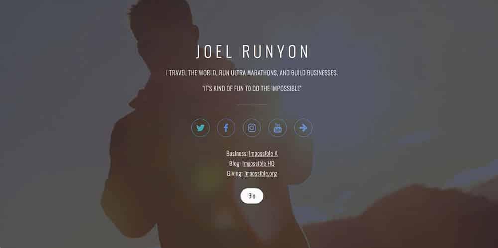 Joel Runyon's personal website