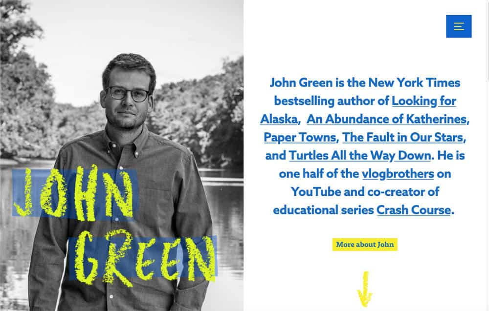 John Green's personal website