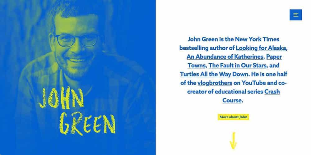 John Green's personal website