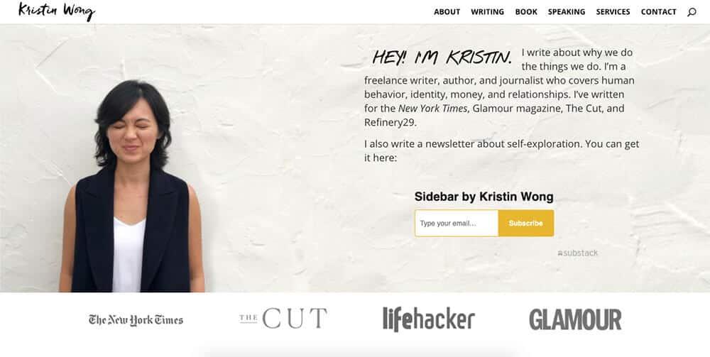 Kristin Wong's personal website