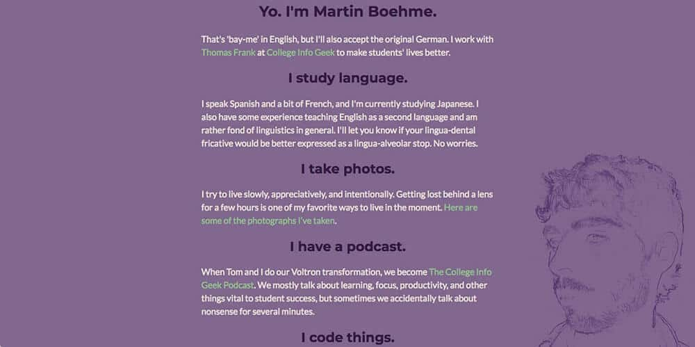 Martin Boehme's personal website