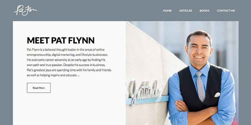 Pat Flynn's personal website