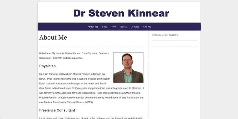 Steven Kinnear's personal website
