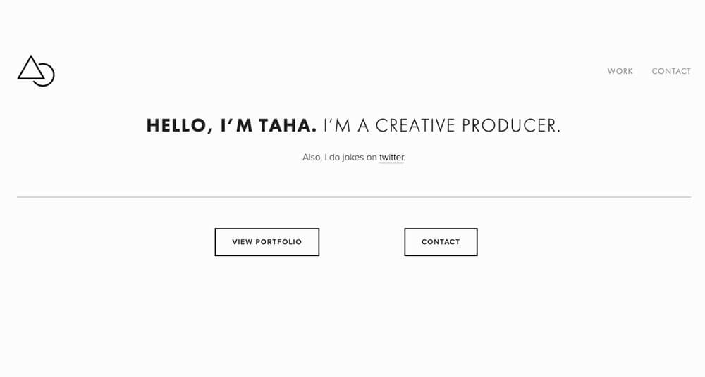 Taha Khan's personal website
