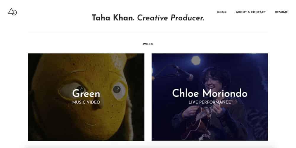 Taha Khan's personal website