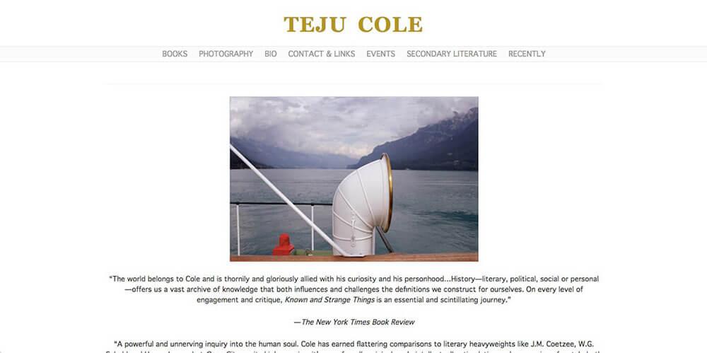 Teju Cole's personal website