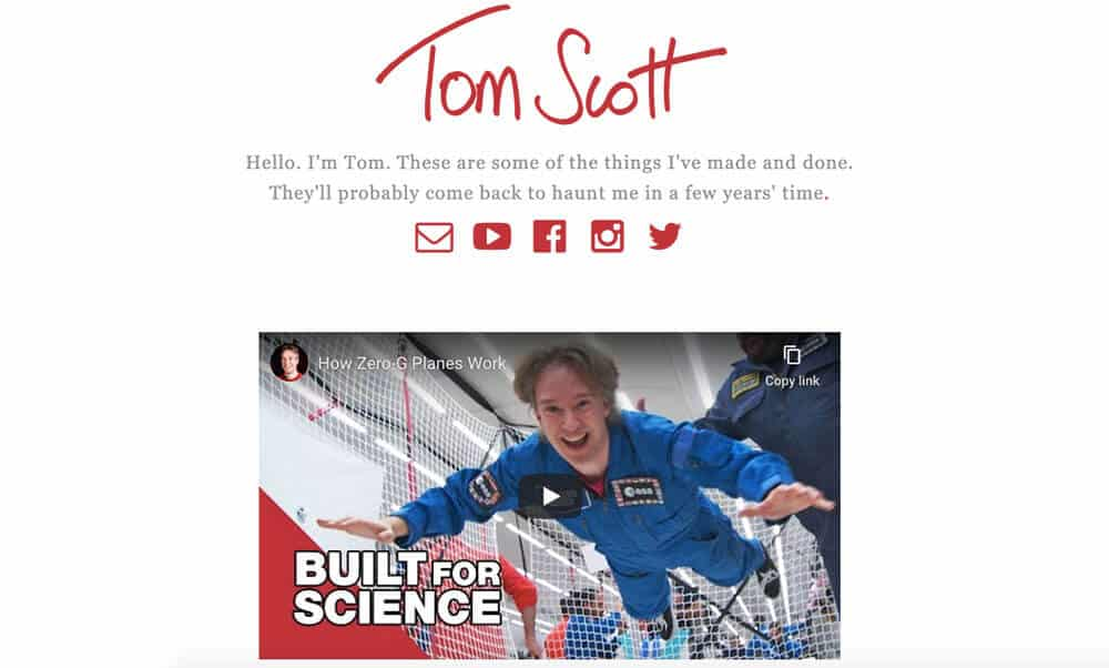 Tom Scott's personal website
