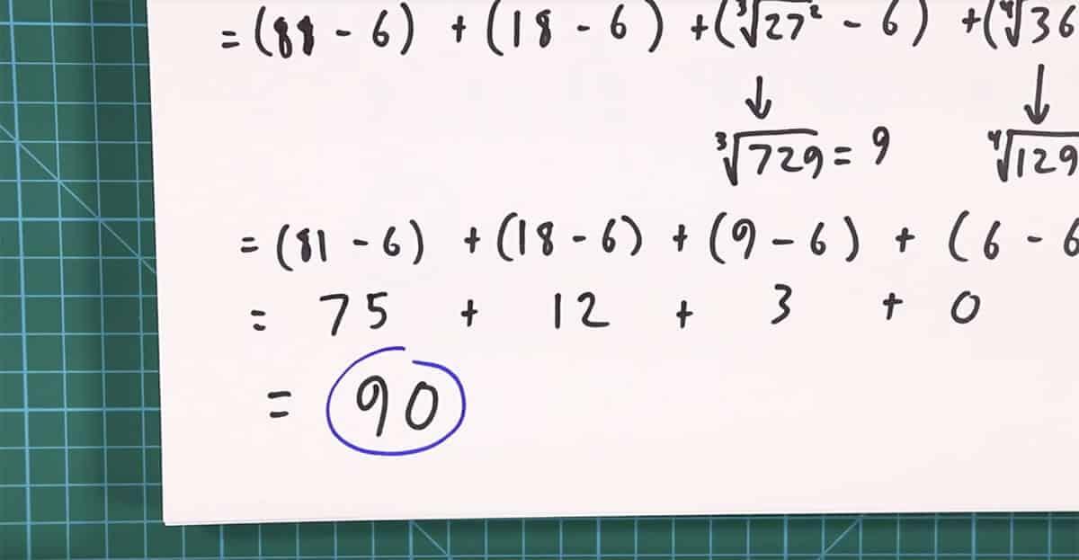 solution to the original math problem