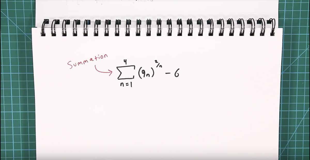 example summation problem