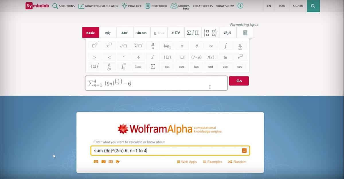 wolfram alpha screenshot