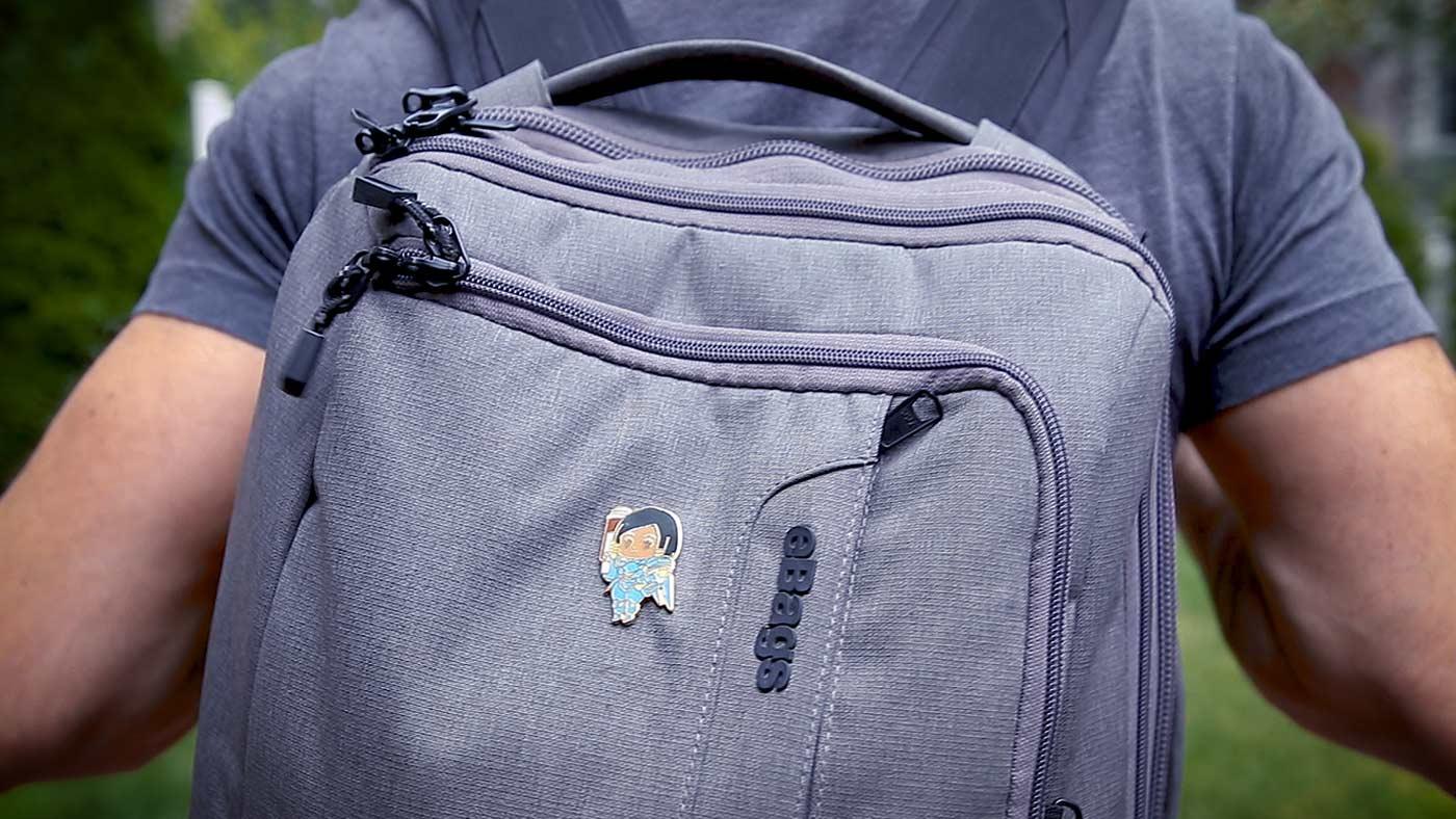 Cute Pilot Fashion Diagonal Single Shoulder Workout Bag