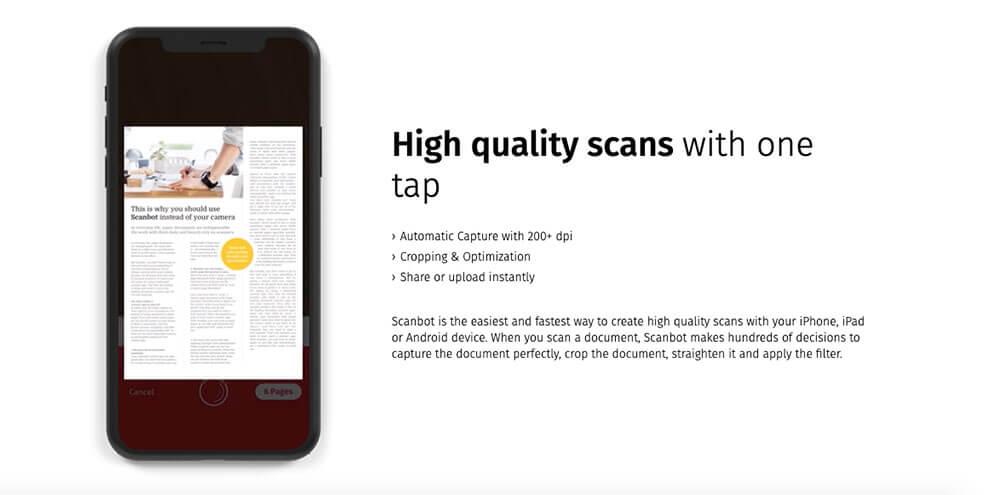 Scanbot document scanner