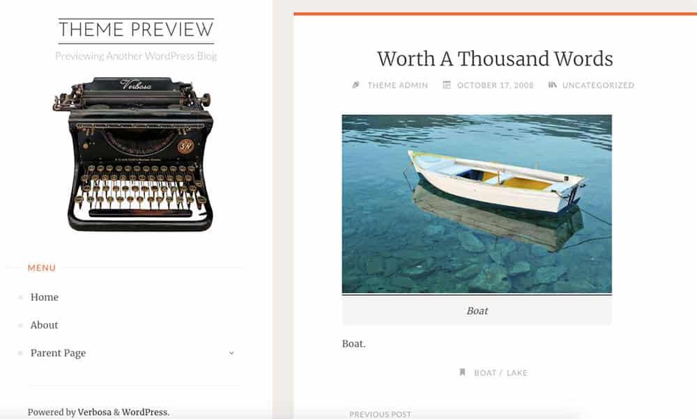 Verbosa WordPress theme
