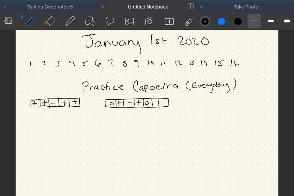 Taking notes with GoodNotes 5