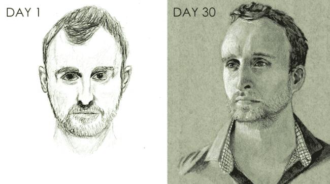 Ultralearning Portrait Challenge