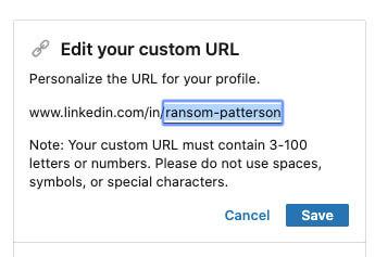 Editing custom URL