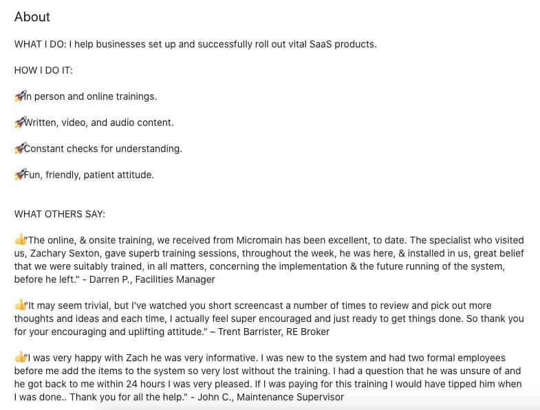 Zack Sexton's LinkedIn Summary
