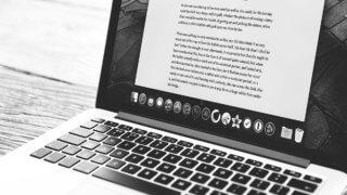 Document open on MacBook