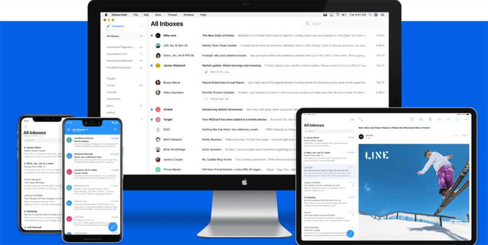 Edison mail app on phone, computer, and tablet